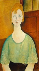 Girl in a Green Blouse, 1917 by Amedeo Modigliani