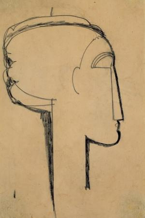 Head in Profile by Amedeo Modigliani