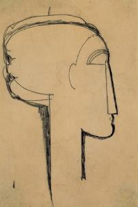 Head in Profile by Amedeo Modigliani