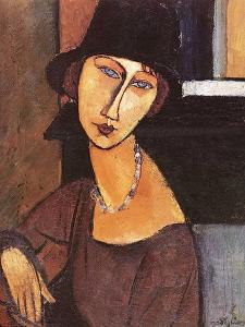 Jeanne Hebuterne Wearing a Hat, 1917 by Amedeo Modigliani