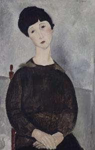 Jeune fille brune, assise by Amedeo Modigliani