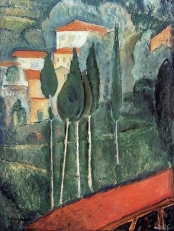 Landscape, South of France, 1919 by Amedeo Modigliani
