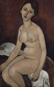 Nu assis by Amedeo Modigliani
