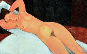 Nude, 1917 by Amedeo Modigliani
