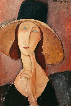 Portrait of a Woman (Jeanne Hébuterne) in Large Hat, c.1918