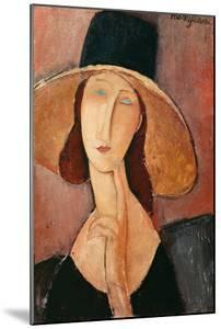 Portrait of a Woman (Jeanne Hébuterne) in Large Hat, c.1918 by Amedeo Modigliani