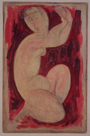 Red Caryatid, 1913 by Amedeo Modigliani