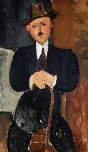 Seated Man (Leaning on a Cane), 1918 by Amedeo Modigliani