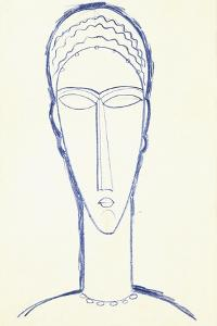 Study for a Head for a Sculpture, C.1911 by Amedeo Modigliani