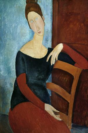 The Artist's Wife (Jeanne Huberterne) 1918 by Amedeo Modigliani