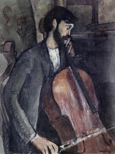 The Cellist by Amedeo Modigliani