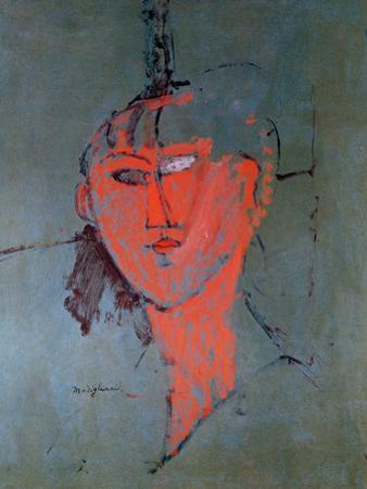 The Red Head, circa 1915 by Amedeo Modigliani
