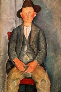 The Young Farmer, 1918 by Amedeo Modigliani