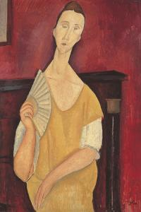 Woman with a Fan by Amedeo Modigliani