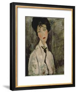 Woman with Black Tie, 1917 by Amedeo Modigliani