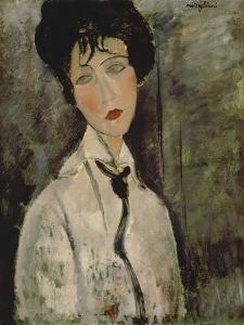 Woman with Black Tie, 1917 by Amedeo Modigliani