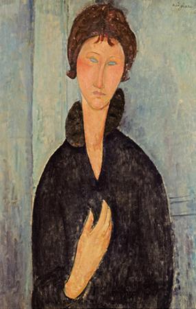 Woman with Blue Eyes, c.1918 by Amedeo Modigliani