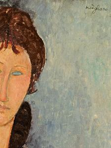 Woman with Blue Eyes, C.1918 by Amedeo Modigliani