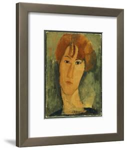 d534aa77639 Young Woman with Red Hair Wearing a Collar · Amedeo Modigliani. Framed Art