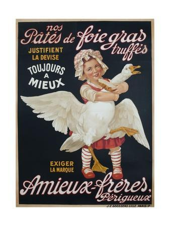 Ameiux Freres, Pates De Foie Gras, French Advertising Poster--Giclee Print