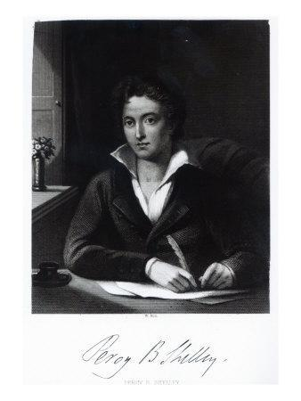 Percy Bysshe Shelley, Engraved by William Holl
