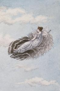 A Fairy Resting on a Feather by Amelia Jane Murray