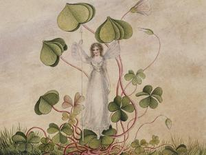 A Fairy Standing Among Clover by Amelia Jane Murray