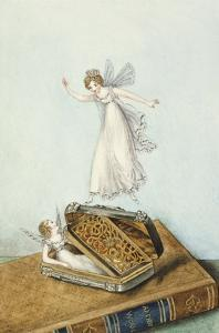 Fairies Playing with a Snuff Box Resting on a Book by Amelia Jane Murray