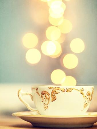 Tea Cup in Cold Bokeh by Amelia Kay