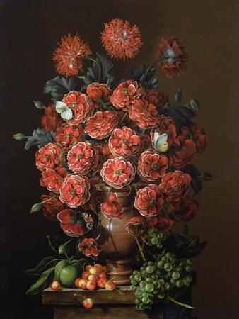 Poppies in a Terracotta Vase, 2000