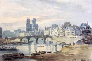 Notre-Dame De Paris from the Ile Saint-Louis, 1819 by Amelia Long