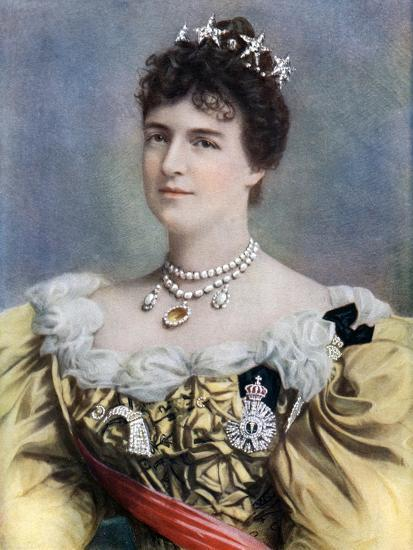 Amelia of Orleans, Queen of Portugal, Late 19th-Early 20th Century- Camacho-Giclee Print