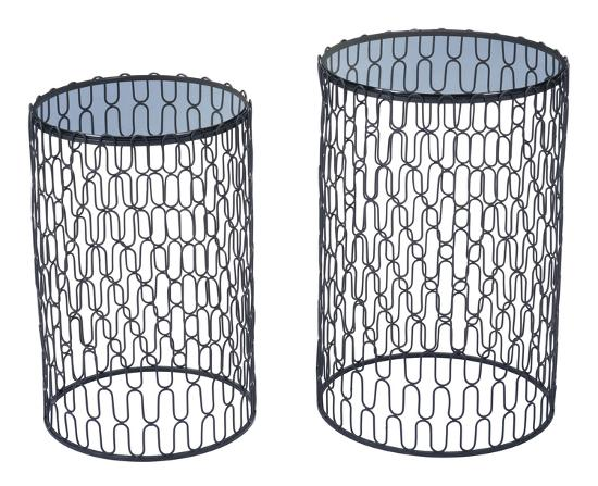 Amelia Set of 2 Side Tables Black--Home Accessories