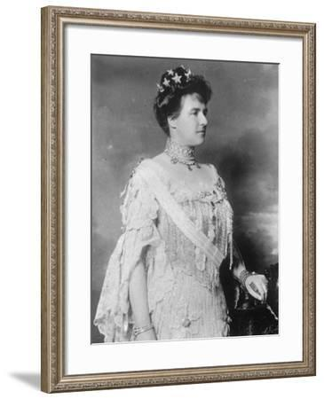Amélie, Queen Mother, Portugal--Framed Photographic Print