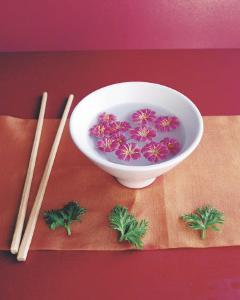 Bowl with Flowers by Amelie Vuillon