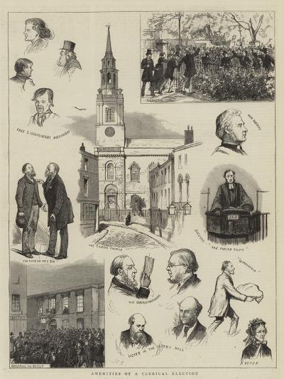Amenities of a Clerical Election--Giclee Print