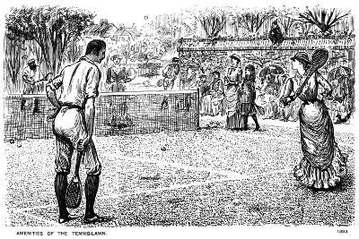 Amenities of the Tennis Lawn, 1883-George Du Maurier-Giclee Print