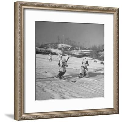 Amer. 10th Mountain Div. Army Ski Patrol, on the Itallian Front in the Appennine Mountains-Margaret Bourke-White-Framed Premium Photographic Print