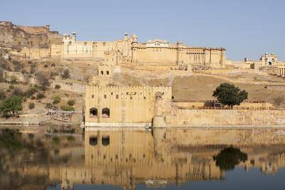 Amer Fort and its Reflection in Water-Jonathan Irish-Photographic Print