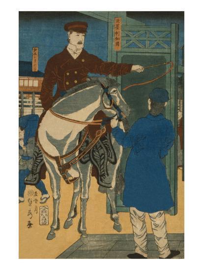 America (Amerikakoku)-Sadahide Utagawa-Art Print