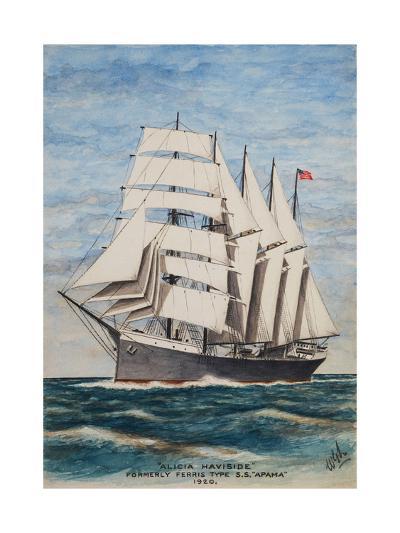 America Barkentine Alicia Haviside-William Gardham Larmour-Giclee Print