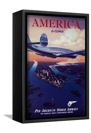 America by Clipper--Framed Canvas Print