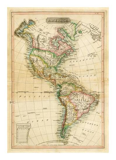 America, c.1820-John Melish-Art Print