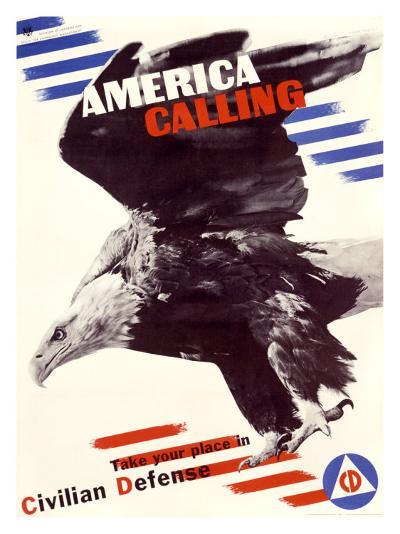America Calling-Herbert Matter-Giclee Print