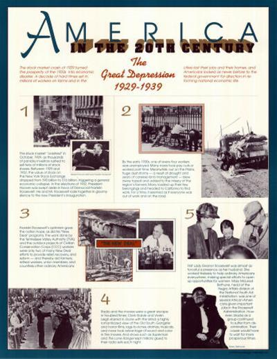 America in the 20th Century - The Great Depression--Art Print