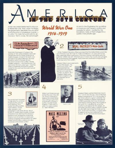 America in the 20th Century - World War I--Art Print