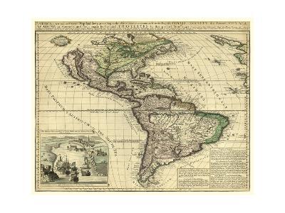 America, London, ca. 1740-Thomas Bakewell-Art Print