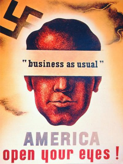 'America Open Your Eyes!', World War Two Poster, 1941--Giclee Print