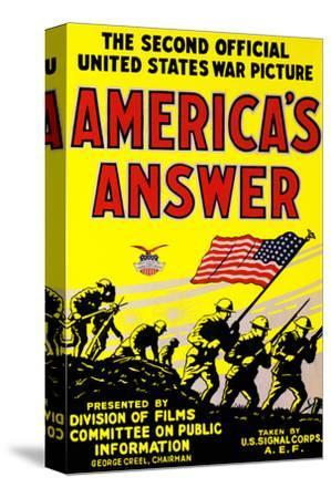 America's Answer. the Second Official United States War Picture
