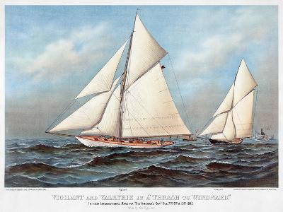America's Cup, 1883-Currier & Ives-Giclee Print